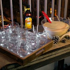 Enjoy 12 cups of Kahlua Eggnog today with friends to celebrate the twelfth day of Kahlua Holiday!  INGREDIENTS 1 part KAHLUA  1 part Jameson Irish Whiskey 4 parts eggnog   INSTRUCTIONS Add the Kahlua, whiskey and eggnog into a pitcher and mix. Serve over ice.