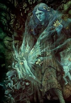Brian Froud is an English fantasy illustrator. by Brian Froud. Twilight (From the Realms of Faerie). Brian Froud, Samhain Halloween, Celtic Mythology, Photo Chat, Art Graphique, Magical Creatures, Forest Creatures, Woodland Creatures, Fairy Art