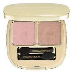 Dolce & Gabbana The Eyeshadow Smooth Eye Colour Duo in Cinnamon 80 - light pink / tan shimmer #sephora