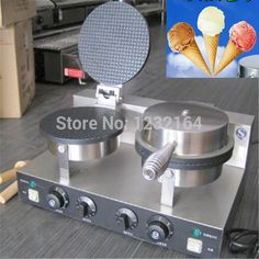 Home Appliances Latest Collection Of Yu-2 Commercial Double Head Ice Cream Cone Baker Machine Waffle Cone Egg Roll Making Machine 220v 1pc