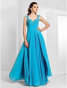 Sheath/Column Floor-length Chiffon Evening/Prom Dress With S... – USD $ 159.99