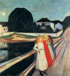 Edvard Munch Four Girls on a Bridge: Giclee Fine Art Print. #munch #art #bridge #girls