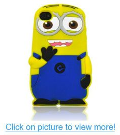 Beautiful 3D Two Eyes Funny Little Yellow Brat Silicone Case Cover for iPhone 4S/4 #Beautiful #3D #Two #Eyes #Funny #Little #Yellow #Brat #Silicone #Case #Cover #iPhone #4S_4