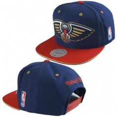 New Orleans Pelicans Mitchell and Ness NBA Tip Off Snapback Hat (Blue)