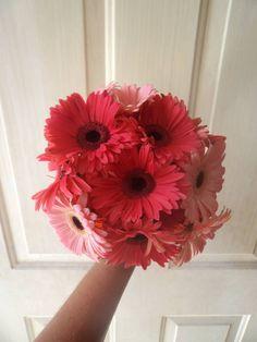 CBR320 Weddings Riviera Maya daysies bouquet / ramo de gereberas
