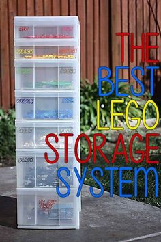 How to organise lego by colour, size, set or purpose. Plus ideas on how to display Lego. The ultimate Lego storage guide! Storage Hacks, Toy Storage, Storage Ideas, Kids Storage, Lego Storage Drawers, Storage Containers, Legos, Lego Lego, Lego Hacks
