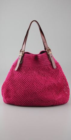 Elliot Mann. Crochet bags. - this would be cuter with the side sticking out, not folded in