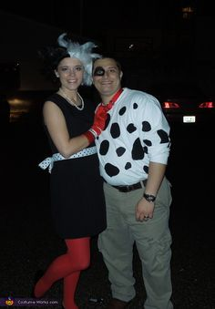 Cruella DeVille and Dalmatian - Homemade Halloween Costume