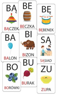 Sylaby - karty obrazkowe (zestaw 119 kart) SzkolneNaklejki.pl Polish Language, Kids English, Kids Learning, Homeschool, Speech Language Therapy, Therapy, Homeschooling, Kids Study