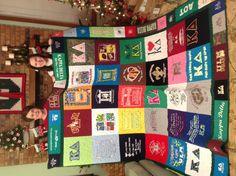 BEST t-shirt quilt! Thanks mom!