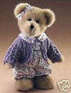 Boyds-Bear-Violet-LeFleur-10-Plush-Bear-904393-NWT-2005-Retired