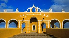 World's most colorful places: The colonial buildings of Izamal, Mexico, are awash in a vivid yellow that gives the town a sunny look no matter what the weather.