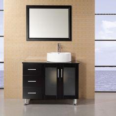 Design Element DEC066B Malibu 36-in. Single Bathroom Vanity Set Espresso - DEC066B-E