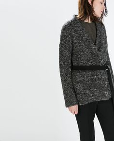 ZARA - SALE AW.14 - SHORT KNIT COAT WITH BELT £29.99