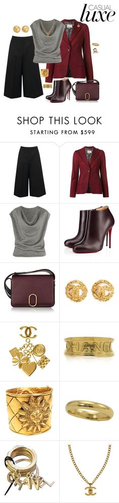 """#Fashion"" by theranna ❤ liked on Polyvore featuring Valentino, Dorothee Schumacher, Yves Saint Laurent, Christian Louboutin, 3.1 Phillip Lim, Chanel, Luxe, casualoutfit, CasualChic and fashionblogger"
