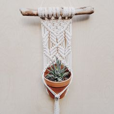 Handmade using 100% cotton rope and driftwood. All Driftwood pieces are unique and may vary from piece to piece. All items are made to order and will take 2-3 weeks to ship. Driftwood measures: 13 Macrame is: 6.5x 26