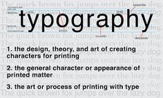 typography: typography definition revised