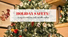 Stay safe this holiday season!