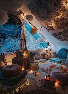 Via What do you like most about this magical room? Credits @ Via What do you like most about this magical room? Cute Bedroom Ideas, Cute Room Decor, Room Ideas Bedroom, Cozy Bedroom, Attic Bedroom Ideas For Teens, Décor Room, Bedroom Inspiration Cozy, Peaceful Bedroom, Bedroom Inspo