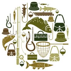 Fishing Icon Set