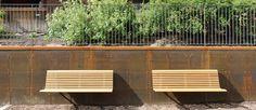 No2 backed bench by Nola design. #Noladesign #streetfurniture #publicspace