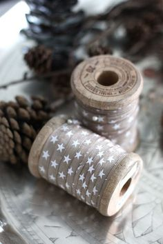 Lovely ribbons and pinecones--could anything be more beautiful in its simplicity celebrating Christmas?