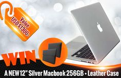 Win a Silver Macbook with leather case