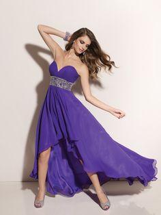 high low bridesmaid dresses   High Low Purple Paparazzi Prom Dress 91041 [SSK232] - $122.00 :