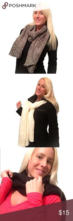 🍂Soft & Cozy Knit Scarf🍂 Super soft and warm. 100% acrylic. Measures 72 inches long (6 feet) and 11 inches wide so it can be worn numerous different ways. Priced at it's lowest price point. Sorry but no trades. Accessories Scarves & Wraps