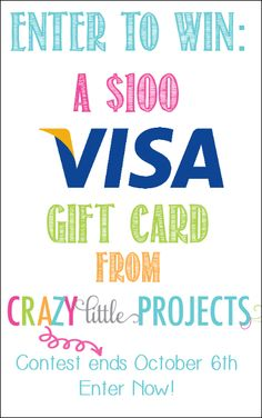 $100 Gift Card Giveaway @Amber Price: Crazy Little Projects