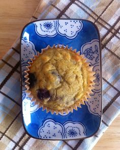 Lemon Blueberry Muffins -- Sugar-free. Gluten-free. High protein. High fiber. Low carbohydrate. Packed with blueberries.