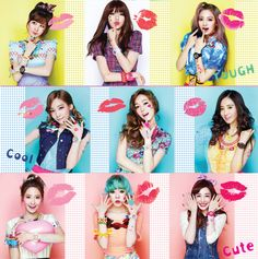 Love this style ...look funny #snsd#korean makeup