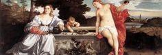 Tiziano Vecellio (Pieve di Cadore, Belluno 1490 circa - Venezia 1576) Amor Sacro e Amor Profano 1514 -