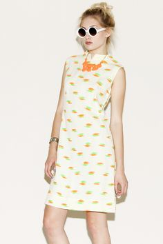 Vintage 1960s Neon Embroidery Dress http://thriftedandmodern.com/vintage-1960s-neon-embroidery-dress