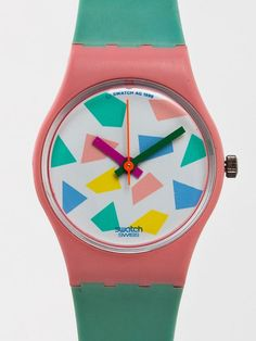 Vintage Swatch Blue Lolly Ladies' Watch selected by American Apparel swatch deadstock spring Supernatural Sty Pastel Fashion, 80s Fashion, Vintage Fashion, Style Fashion, Memphis, Vintage Swatch Watch, Mode Style, Kristina Webb, Swagg