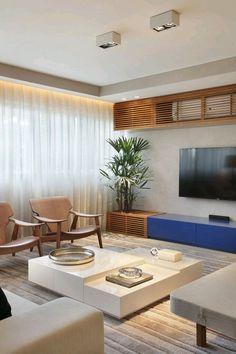 For everything Home Decor! Condo Living, Home And Living, Living Room Decor, Home Interior Design, Interior Architecture, Living Room Tv Unit Designs, Sala Grande, Decoration Design, House Design