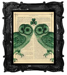 St Patrick's Day Fun.    Esty Find!! I just love owls. It looks stunning in the photo they posted of it hanging in the house.