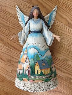 Heartwood Creek Jim Shore Angel Figurine Retired Watcher of Villages and Valleys | eBay