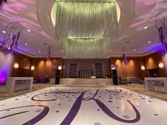 Our silver rain curtain overhead set the perfect scene to dance the night away!