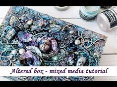 Altered box with Opal Magic paints - mixed media tutorial - YouTube