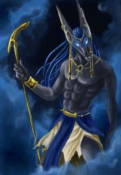 Anibus - O Embalsamador Egyptian Mythology, Egyptian Art, Egyptian Things, Egyptian Anubis, Old Egypt, Ancient Egypt, Fantasy Creatures, Mythical Creatures, Egypt Concept Art