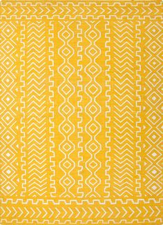 The Conestoga Trading Co. Hand-Woven Yellow Area Rug