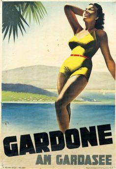 GARDONE F. MOSCA - 1936 Affiche italienne encadrée 70x100cm - Tessier & Sarrou - 27/03/2015