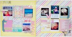 2 Page layout using the NEW Heidi Swapp collections by Lindsay Bateman
