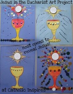 Jesus in the Eucharist ~ Art Project - Catholic Inspired