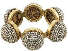 Miriam Haskell Vintage Beaded Dome Bracelet