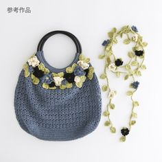 ao with <3 / crochet purse & lariat necklace