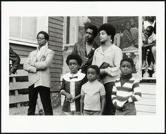 Portrait of Captain David Hilliard, Chief of Staff of the Black Panther Party, at Bobby Hutton Memorial Park, Oakland, 1968, printed 2012 Pirkle Jones, ©2011 Pirkle Jones Foundation