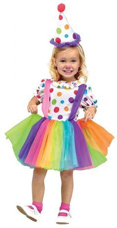 Clown kostuum kind jurkje Regenboog