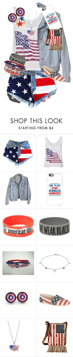 """HAPPY FOURTH!!!🇺🇸"" by pineapple1323 ❤ liked on Polyvore featuring Mossimo, American Apparel, Casetify, Hot Topic, Coven, Barefootsies, Skechers, LogoArt and M&F Western"